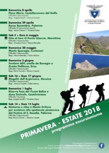 Programma escursioni Cai Erice primavera estate
